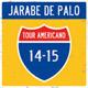 Carátula de 'Tour Americano 14-15', Jarabe de Palo (2015)