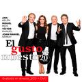 Carátula de 'El Gusto Es Nuestro, 20 Años', A. Belén, V. Manuel, J.M. Serrat y M. Ríos (2016)