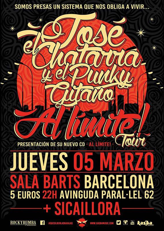 """José """"el Chatarra"""" en Sala Barts, más info..."""