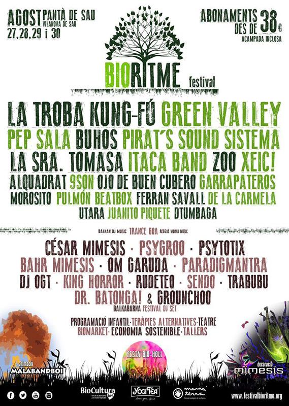 La Troba Kung-Fú en BioRitme Festival, más info...
