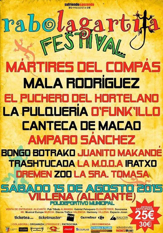 El Puchero del Hortelano en Rabolagartija Festival, más info...