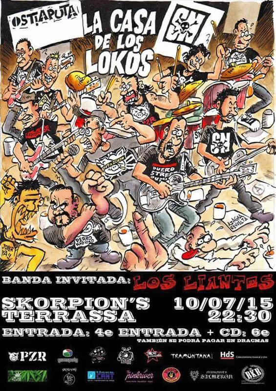 Ostiaputa en Sala Skorpions, más info...