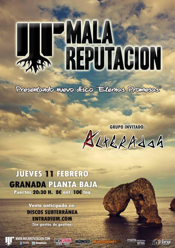Mala Reputación en Sala Planta Baja, más info...