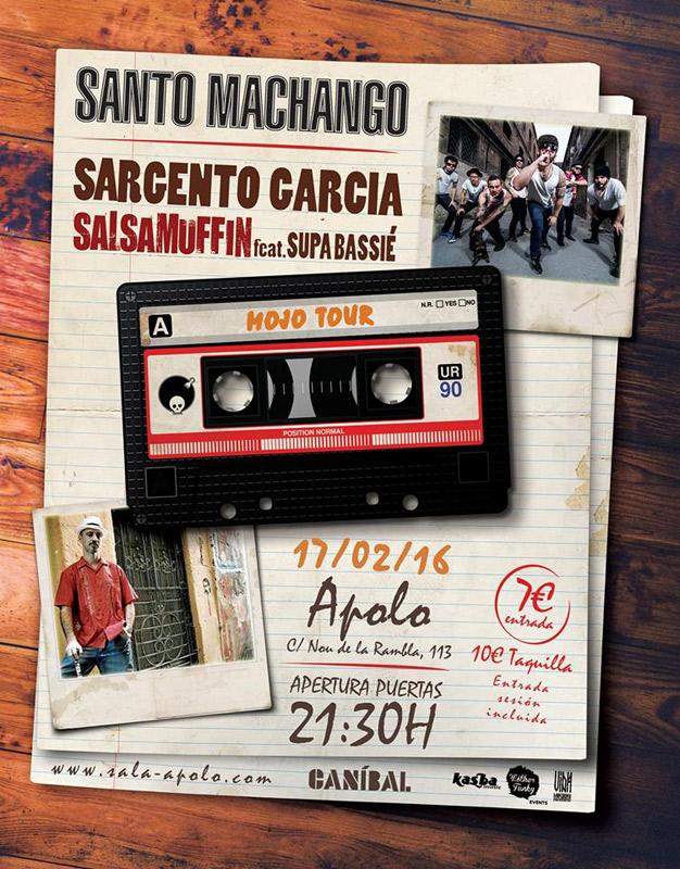 Santo Machango en Sala Apolo, más info...