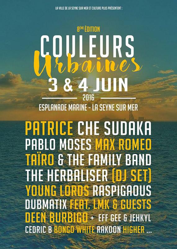 Che Sudaka en Festival Couleurs Urbaines, más info...