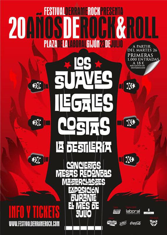 Los Suaves en Festival Derrame Rock, más info...
