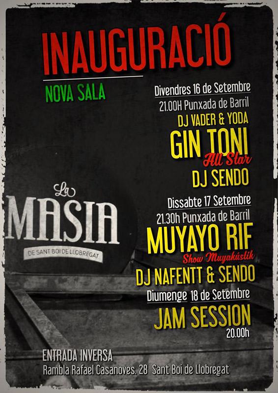 Muyayo Rif en La Masia, más info...