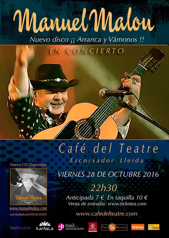 Manuel Malou en Cafè del Teatre, más info...
