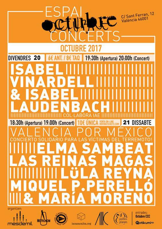 Isabel Vinardell & Isabelle Laudenbach en Espai Octubre, más info...