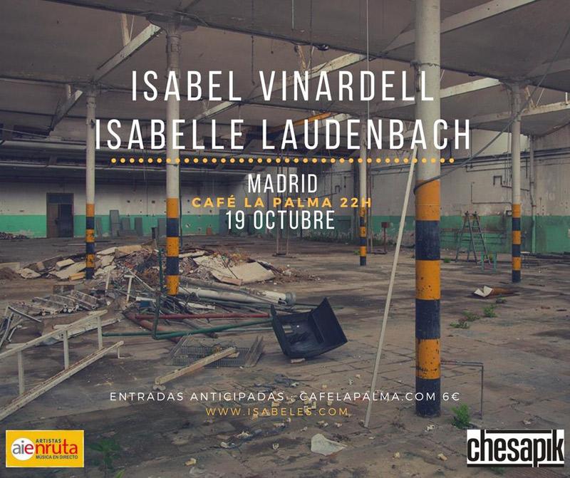 Isabel Vinardell & Isabelle Laudenbach en Café La Palma, más info...