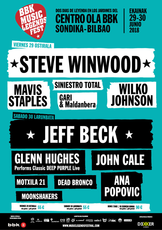 Steve Winwood en BBK Music Legends Fest, más info...
