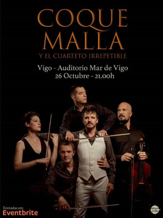 Coque Malla en Pazo de Congresos Mar de Vigo, más info...