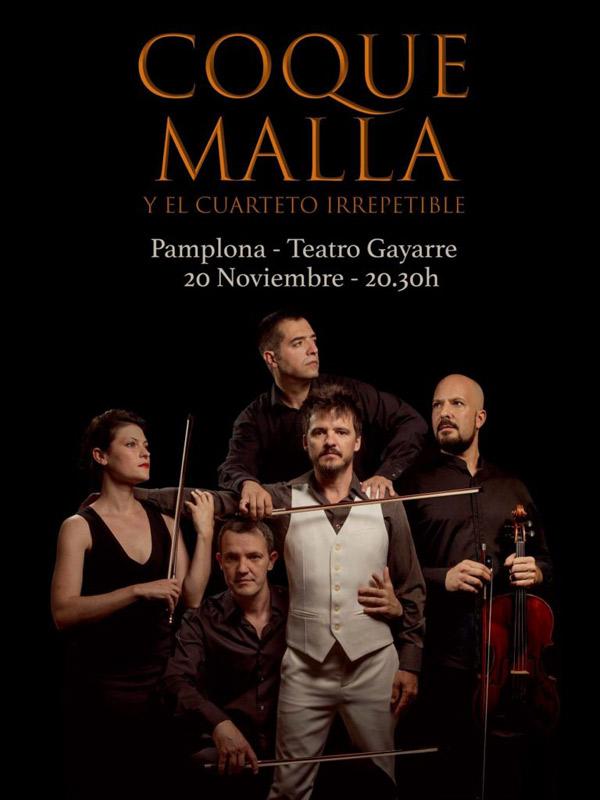 Coque Malla en Teatro Gayarre, más info...