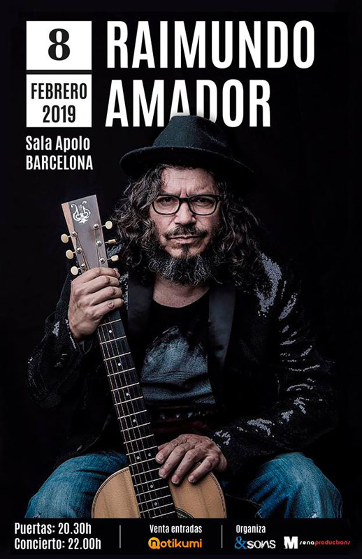 Raimundo Amador en Sala Apolo, más info...