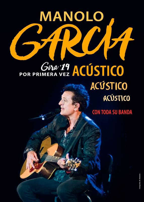 Manolo García en Teatro Municipal Quijano, más info...