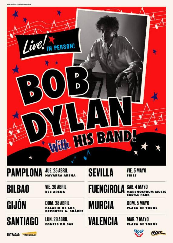 Bob Dylan en Plaza de Toros de Valencia, más info...