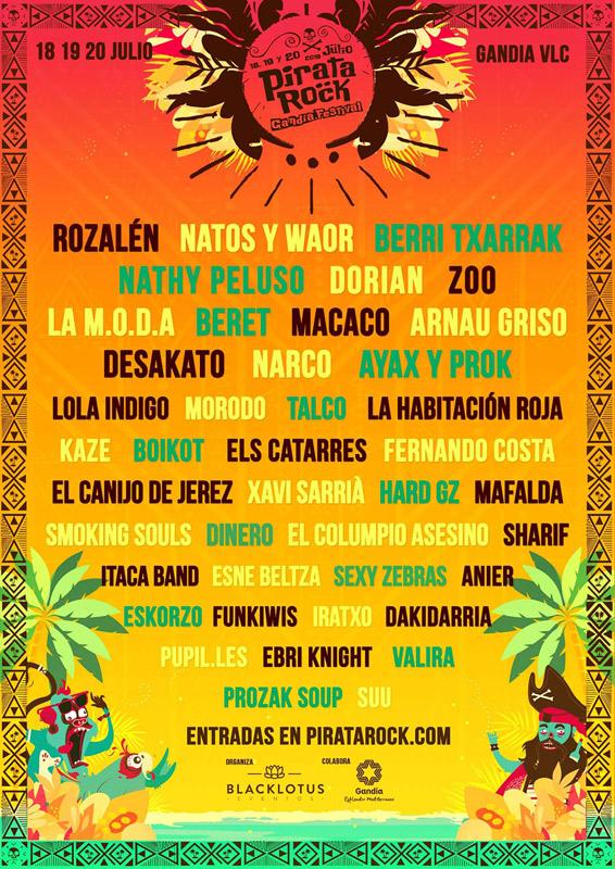 Macaco en Pirata Rock Festival 2019, más info...