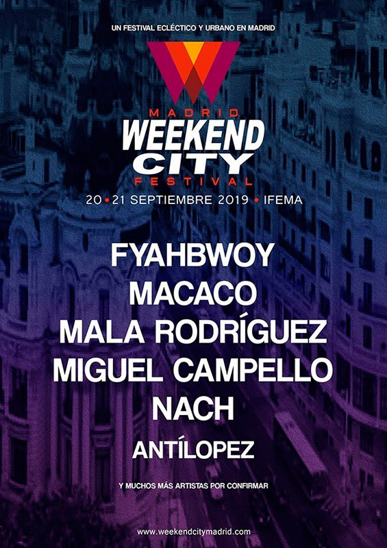 Macaco en Weekend City Madrid 2019, más info...