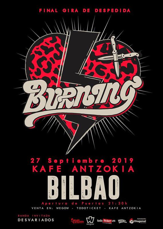 Burning en Kafe Antzokia Bilbao, más info...