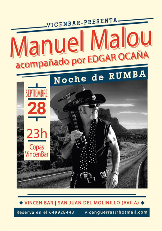 Manuel Malou en Vicen Bar, más info...