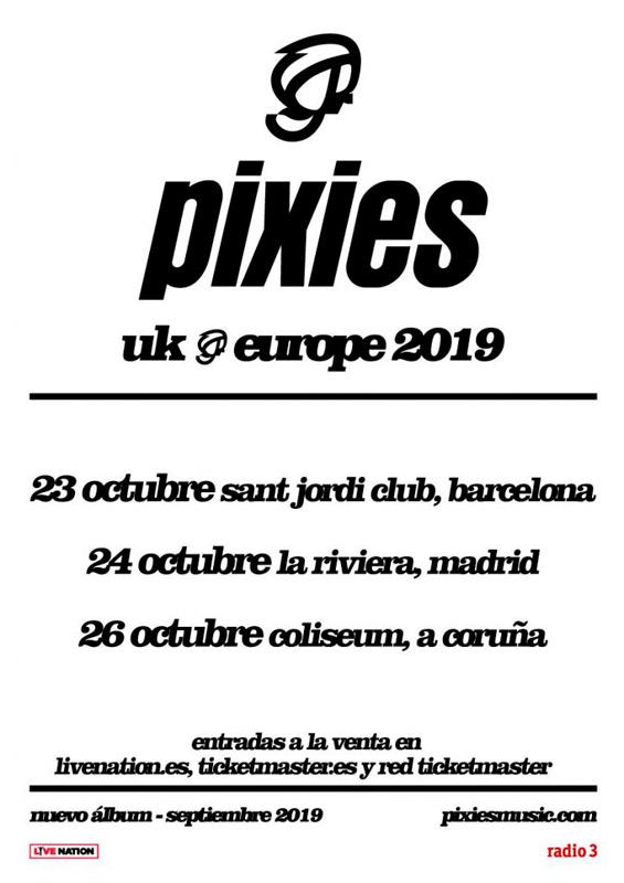 Pixies en Sant Jordi Club, más info...