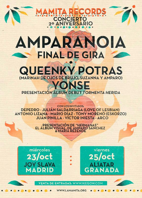 Amparanoia en Sala Joy Eslava, más info...
