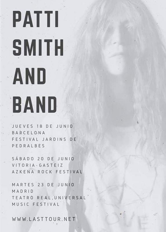 Patti Smith en Festival Jardins de Pedralbes, más info...