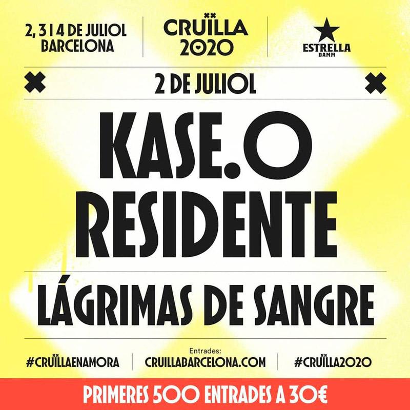 Kase.O en Festival Cruïlla 2020, más info...