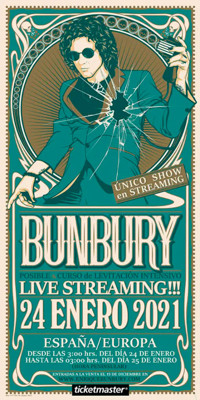 Enrique Bunbury (banda) en Live Streaming!!!, más info...