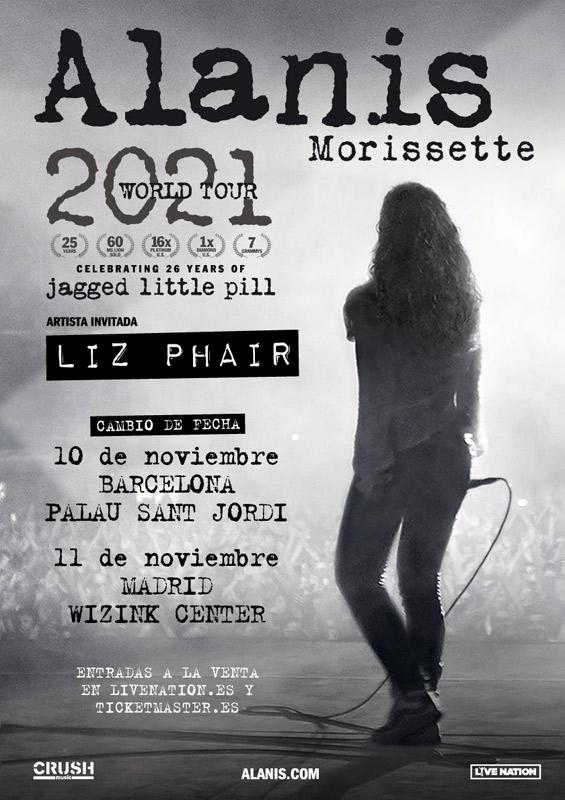 Alanis Morissette en Palau Sant Jordi, más info...