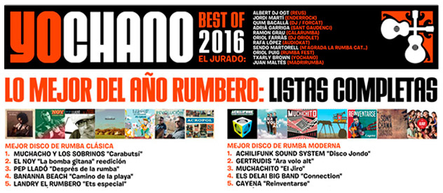 YoChano Best of 2016, la 8ª edición con lo mejor de la rumba...